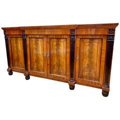Baker Furniture Mahogany Sideboard Buffet Server Bar China Cabinet Credenza
