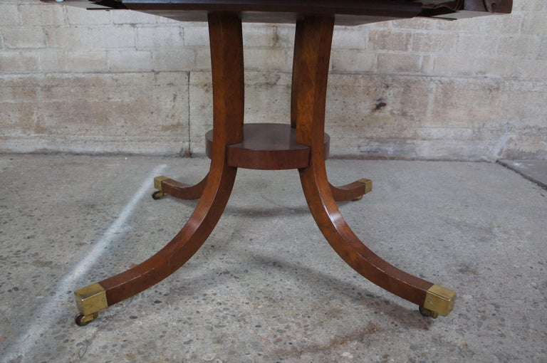 Baker Furniture McMillian Traditional Georgian Round Extendable Pedestal Table 6