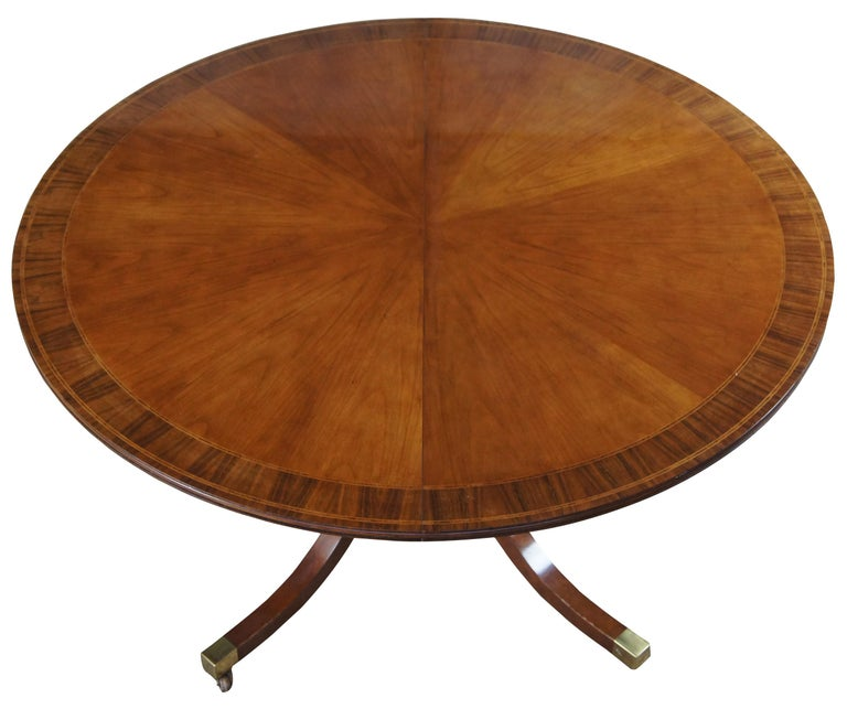 Georgian inspired dining table from the McMillian collection by Baker Furniture. The late 1980s marked the debut of The McMillen Collection, continental furniture drawn from the archives of the McMillian Design firm in New York. This gorgeous