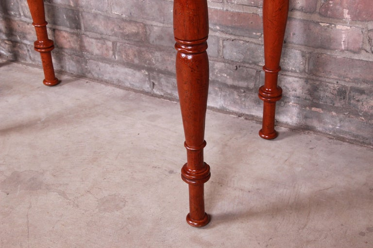 Baker Furniture Milling Road Carved Mahogany Nightstands, Pair 5