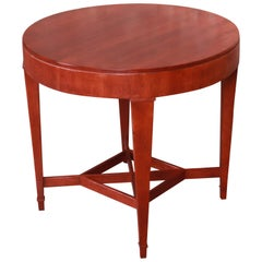 Baker Furniture Milling Road Cherrywood Tea Table or Occasional Side Table