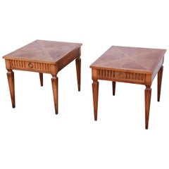 Baker Furniture Milling Road French Regency End Tables, Pair