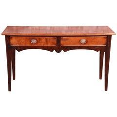 Baker Furniture Milling Road Italian Maple Console or Sofa Table