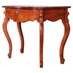 Baker Furniture Milling Road Italian Provincial Carved Maple Console Table