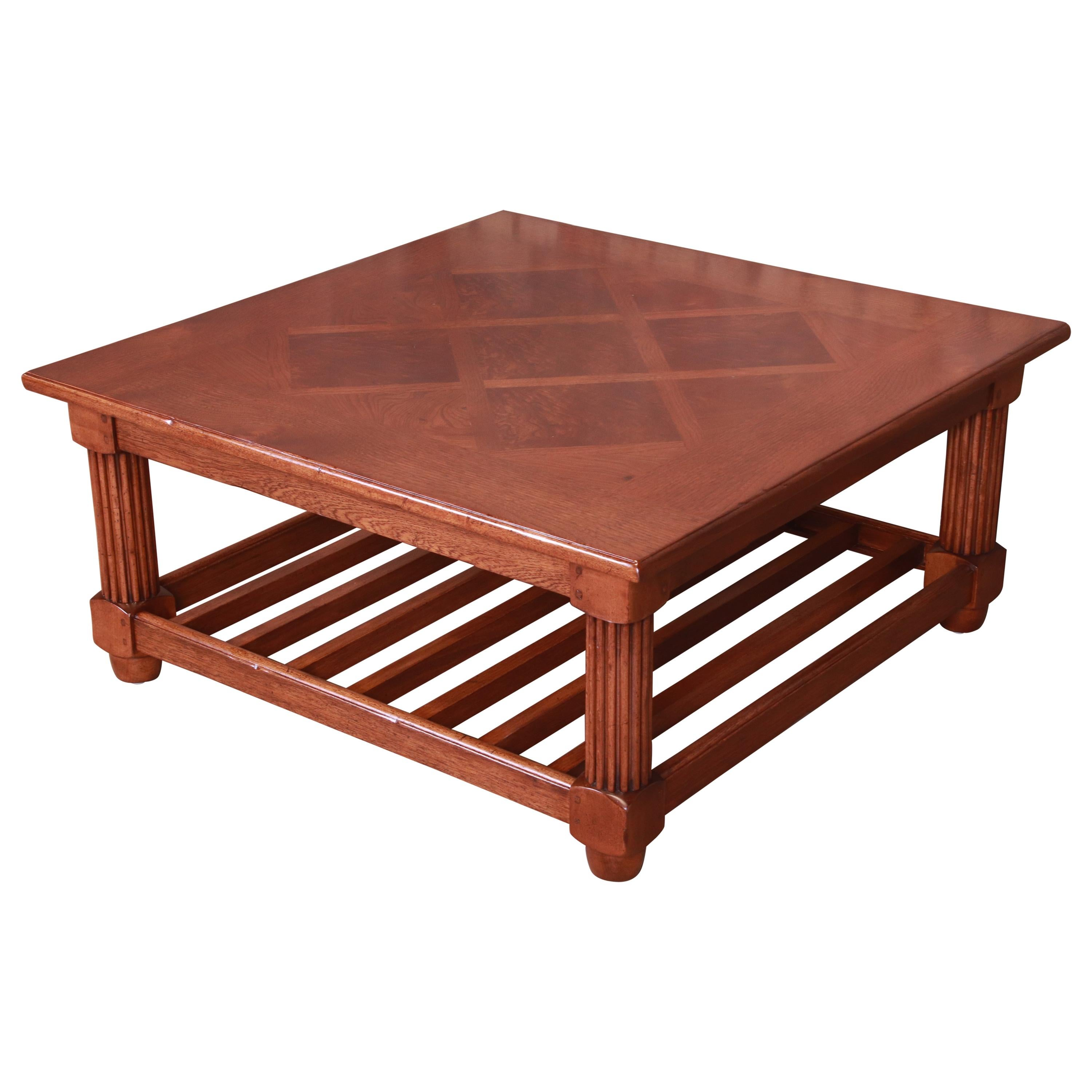 Baker Furniture Milling Road Italian Provincial Coffee Table, Newly Refinished