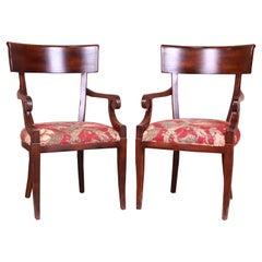 Baker Furniture Milling Road Italian Regency Armchairs, Pair