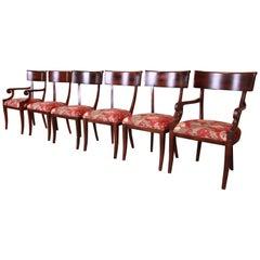 Baker Furniture Milling Road Italian Regency Dining Chairs, Set of Six