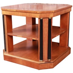 Baker Furniture Neoclassical Cherrywood Three-Tier Occasional Side Table
