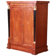 Baker Furniture Neoclassical Cherrywood Bar Cabinet