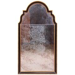 Baker Furniture Neoclassical Ebonized and Parcel Gilt Framed Mirror