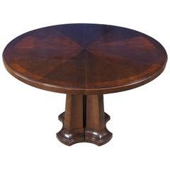 Baker Furniture Noir Round Mahogany Dining Table American Walnut Laura Kirar