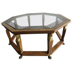 Baker Furniture Octagonal Coffee Table