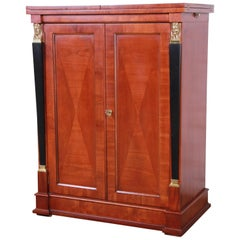 Baker Furniture Palladian Collection Cherry Wood Neoclassical Bar Cabinet