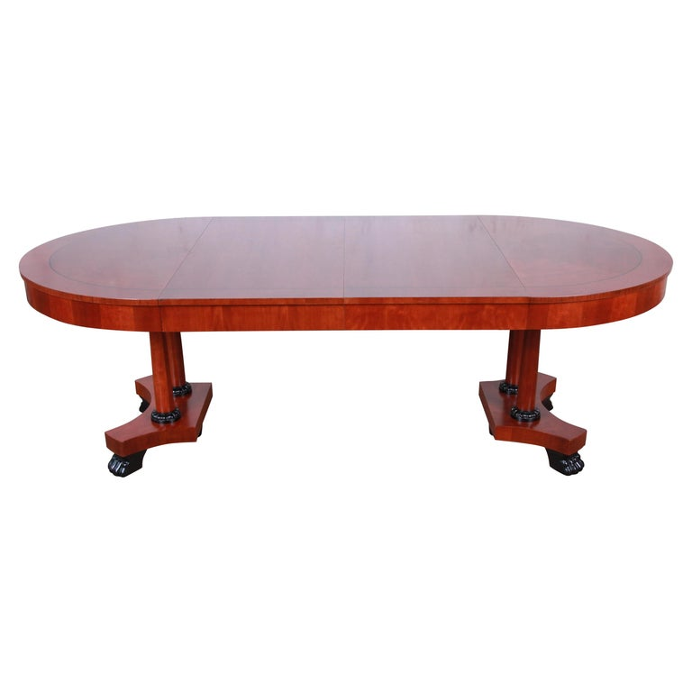 Baker Furniture Palladian Collection Neoclassical Cherry Wood Dining Table For Sale At 1stdibs