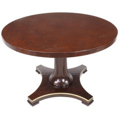 Baker Furniture Pedestal Games Table with Craquelure Finish