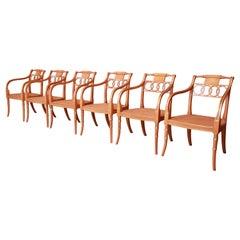 Baker Furniture Regency Dining Armchairs, Set of Six