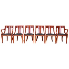Baker Furniture Regency Dining Chairs, Set of Six