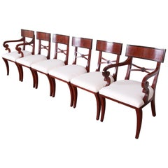 Baker Furniture Regency Mahogany Dining Chairs, Set of Six