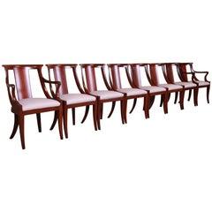Baker Furniture Solid Mahogany Regency Dining Chairs, Fully Restored