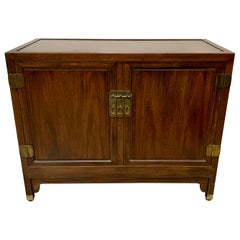 Baker Furniture Walnut Sideboard Cabinet Buffet Bar Credenza