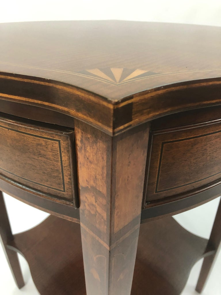 Baker Historic Charleston Mahogany and Satinwood Inlay Side Table For Sale 7
