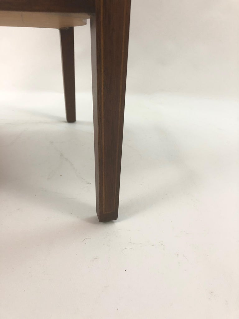 Baker Historic Charleston Mahogany and Satinwood Inlay Side Table For Sale 8