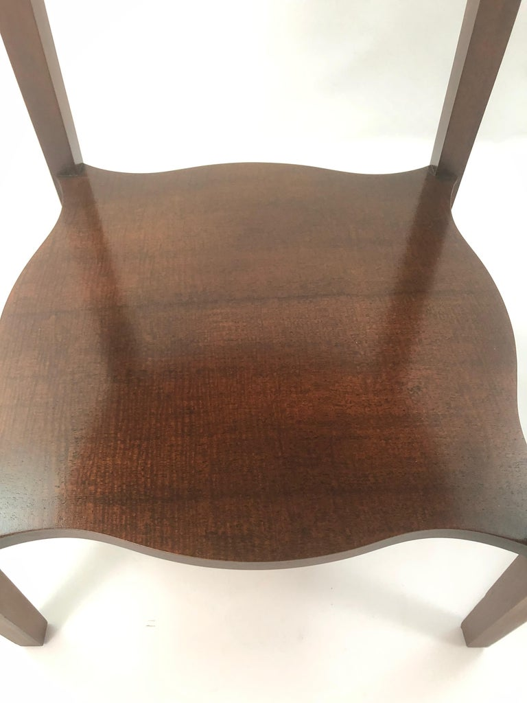 Baker Historic Charleston Mahogany and Satinwood Inlay Side Table For Sale 3