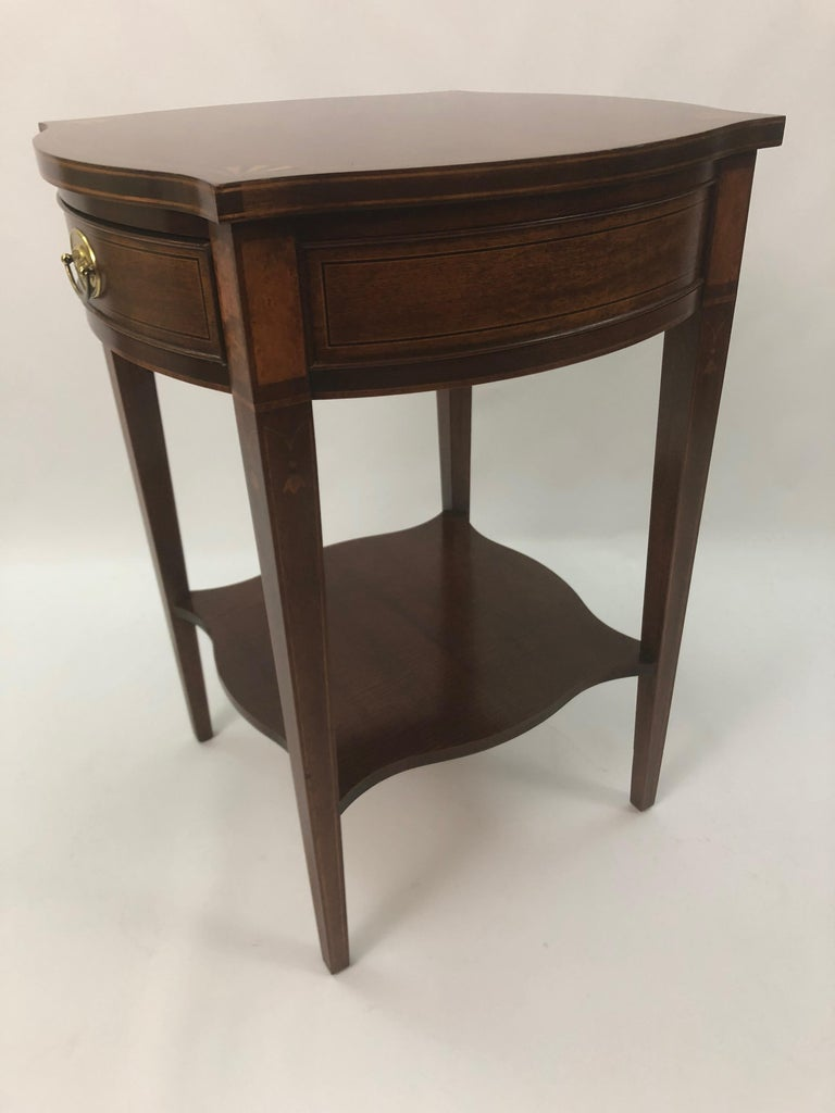 Baker Historic Charleston Mahogany and Satinwood Inlay Side Table For Sale 5