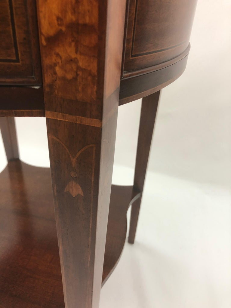 Baker Historic Charleston Mahogany and Satinwood Inlay Side Table For Sale 6