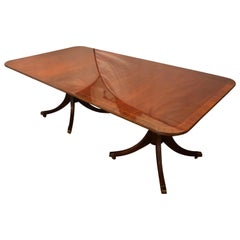 Baker Mahogany Dining Table, Georgian Style Historic Collection