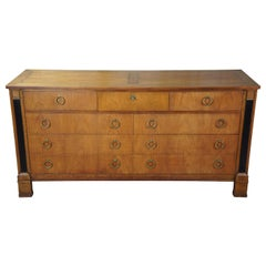 Baker Midcentury French Empire Neoclassical Regency Syle 9-Drawer Dresser