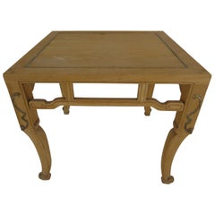 Baker Ming Style Natural Finish End Table