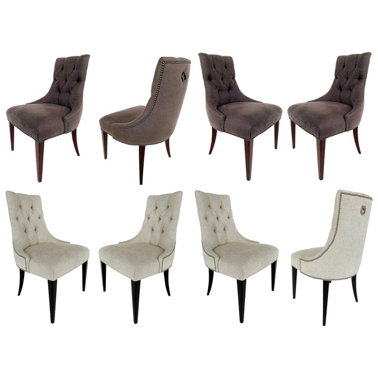 """Baker """"Ritz"""" Dining Chairs by Thomas Pheasant, 2 Sets of 4 For Sale"""