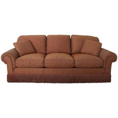 Baker Sofa Lawson Style from the Crown and Tulip Collection Terracotta
