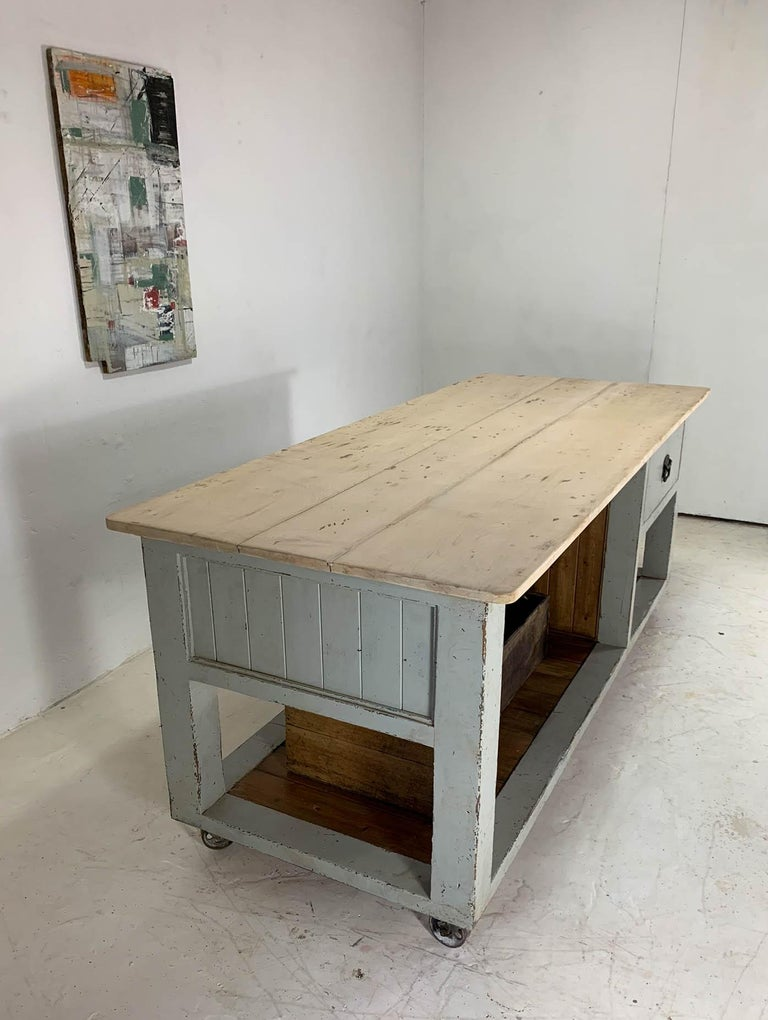 Baker's Table Workbench Kitchen Island Kitchen Table For Sale 3