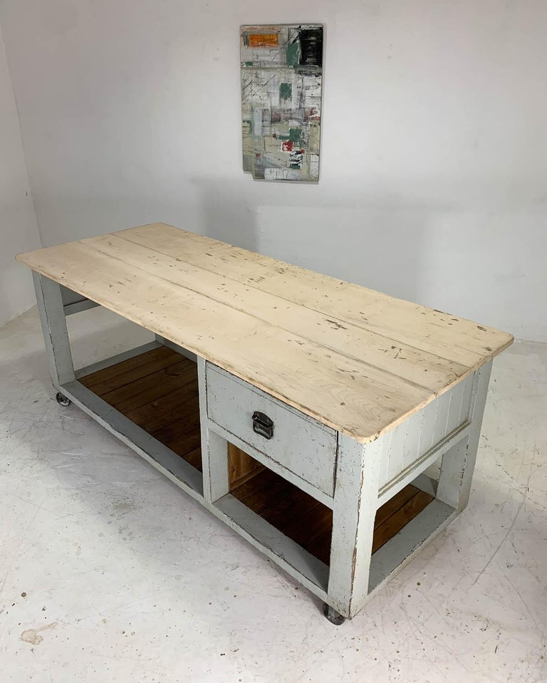 Baker's Table Workbench Kitchen Island Kitchen Table For Sale 4