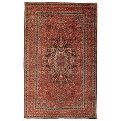 Bakhtiari Persian Carpet circa 1910 in Pure Wool and Vegetable Dyes