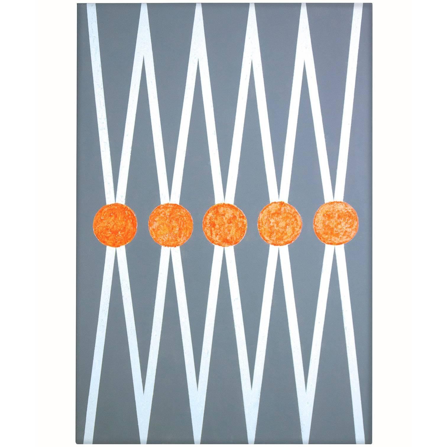 """Balance"" 2015 grey /white Geometrical  Acrylic on Canvas by Cecilia Setterdahl"