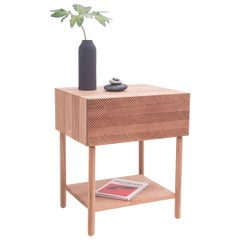 """Balance"" Sidebed Table in Cedar Wood, Mexican Contemporary Design"