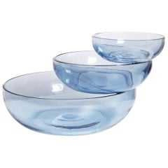 Balancing Glass Sculptural Bowl from the Balance Collection by Joel Escalona