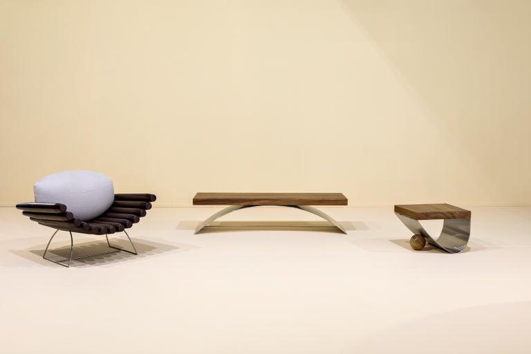 Modern Balanço Bench by Rodrigo Ohtake, Brazilian Contemporary Design For Sale