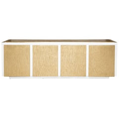 Balboa Credenza in Lacquered White & Antique Gold by Badgley Mischka Home