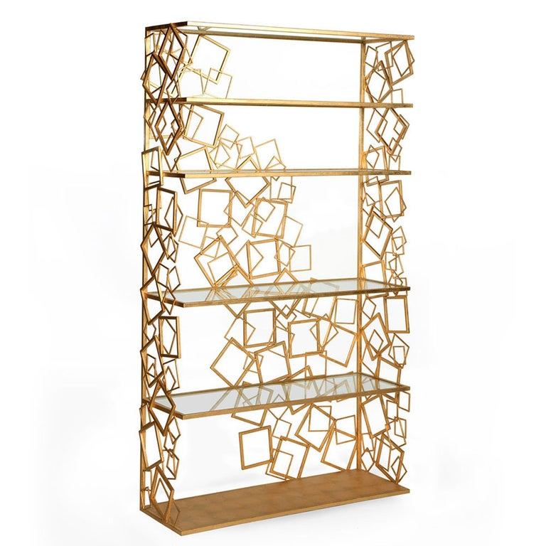 The Balboa étagère is an extravagant Old Hollywood era-inspired piece exuding glamour and sophistication. This elegantly designed statement bookshelf incorporates intricate frame detailing, stunning form, functionality, and quality. The frame is