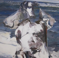 Large Figurative Abstract Oil Painting by Balcomb Greene dated 1966