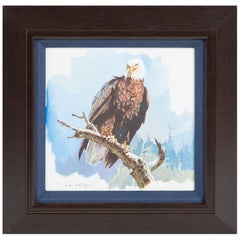 """Bald Eagle"" by John Swatsley, Original Acrylic Painting on Board"