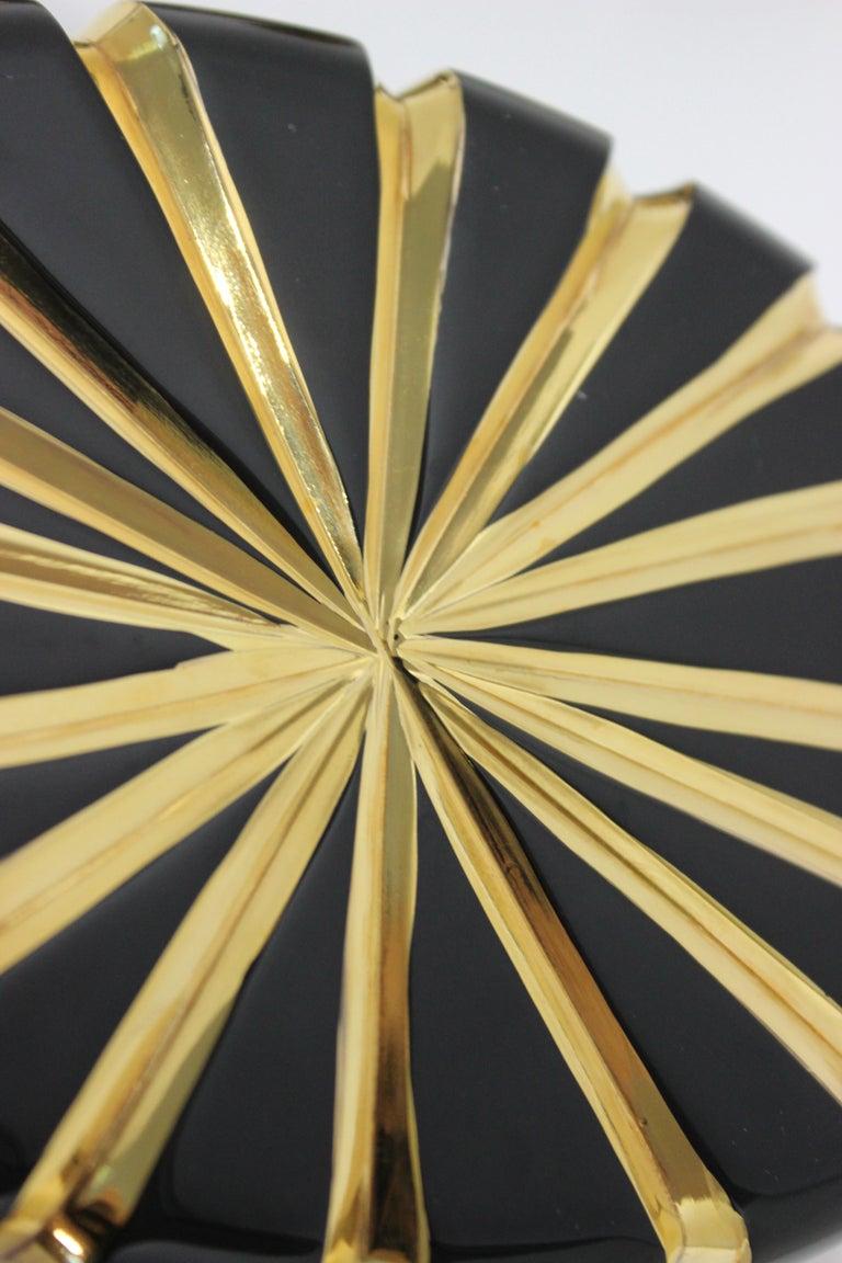 Baldi Black Glass and 24-Karat Gold Box For Sale 3