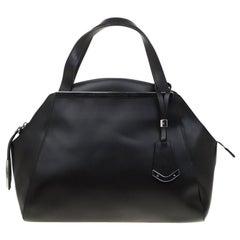 Baldinini Black Leather Satchel