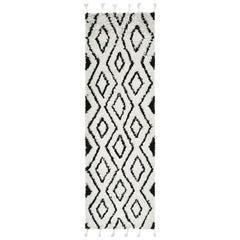 Baldwin, Bohemian Shaggy Moroccan Hand-Woven Area Rug, Snow