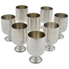 Set of 8 Sterling Silver Cordial Cups by Baldwin & Miller