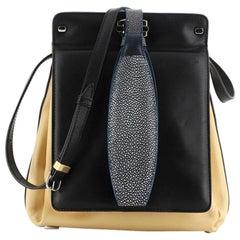 Balenciaga 5-7 Shoulder Bag Leather with Stingray Small